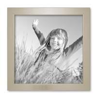 2er Set Bilderrahmen 20x20 cm Silber Modern Massivholz-Rahmen mit Glasscheibe inkl. Zubehör / Fotorahmen  – Bild 5