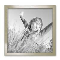 3er Set Bilderrahmen 30x30 cm Silber Modern Massivholz-Rahmen mit Glasscheibe inkl. Zubehör / Fotorahmen  – Bild 5
