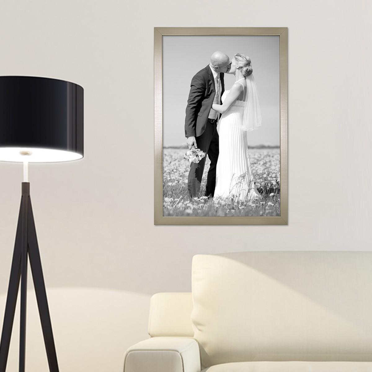 3er set bilderrahmen 30x42 cm  din a3 silber modern