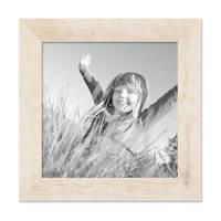 Bilderrahmen 20x20 cm Strandhaus Rustikal Weiss Massivholz mit Glasscheibe inkl. Zubehör / Fotorahmen  – Bild 1