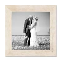 4er-Bilderrahmen-Set Strandhaus Rustikal Weiss Massivholz je einmal 10x10, 10x15, 20x20 und 20x30 cm, inkl. Zubehör für Bilderwand oder Fotowand / Fotorahmen  – Bild 6