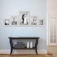 5er Set Bilderrahmen 15x20, 20x30 und 30x45 cm Strandhaus Rustikal Weiss Massivholz mit Glasscheibe inkl. Zubehör / Fotorahmen  – Bild 2