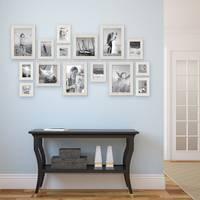 15er Bilderrahmen-Set Strandhaus Rustikal Weiss Massivholz 10x15 bis 20x30 cm inklusive Zubehör zur Gestaltung einer Collage / Bildergalerie – Bild 4