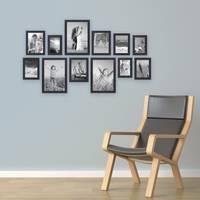 12er Set Bilderrahmen Modern Schwarz aus MDF 10x15 bis 20x30 cm inklusive Zubehör / Fotorahmen  – Bild 4