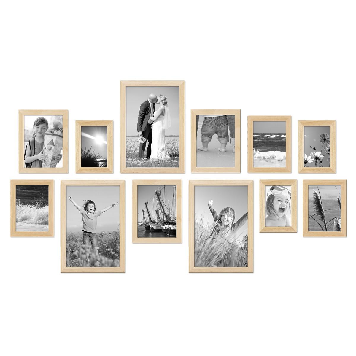 12er set bilderrahmen modern kiefer natur massivholz 10x15 - Bilderrahmen modern ...