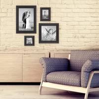 4er-Set Bilderrahmen Dunkelbraun Landhaus-Stil shabby-chic je einmal 10x10, 10x15, 20x20 und 20x30 cm inkl. Zubehör / Fotorahmen  – Bild 3