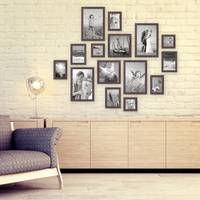 15er Bilderrahmen-Set Modern Nuss