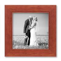 5er Set Bilderrahmen 10x10, 10x15, 13x18 und 15x20 cm Kirsche Modern Massivholz-Rahmen mit Glasscheibe inkl. Zubehör / Fotorahmen  – Bild 5