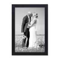 Bilderrahmen 20x30 cm Schwarz Modern aus MDF mit Glasscheibe und Zubehör / Fotorahmen  – Bild 1