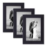 3er Set Bilderrahmen 10x15 cm Schwarz Modern aus MDF mit Glasscheibe und Zubehör / Fotorahmen  – Bild 6