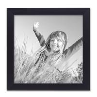 3er Set Bilderrahmen 20x20 cm Schwarz Modern aus MDF mit Glasscheibe und Zubehör / Fotorahmen  – Bild 3