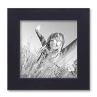 5er Set Bilderrahmen 10x10 cm Schwarz Modern aus MDF mit Glasscheibe und Zubehör / Fotorahmen  – Bild 3