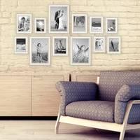 12er-Set Bilderrahmen Shabby-Chic Landhaus-Stil Weiss 10x15 bis 20x30 cm inklusive Zubehör / Fotorahmen  – Bild 5