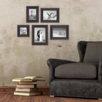 5er-Set Bilderrahmen, Dunkelbraun Landhaus-Stil shabby-chic 10x10, 10x15, 13x18 und 15x20 cm inkl. Zubehör / Fotorahmen  – Bild 6