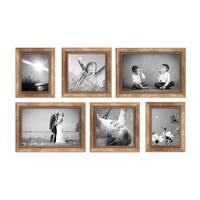 6er-Set Bilderrahmen Gold Barock Antik 15x20 20x20 und 20x30 cm inkl. Zubehör Fotorahmen / Barock-Rahmen  – Bild 5