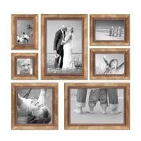 7er-Set Bilderrahmen Gold Barock Antik 10x10 10x15 13x18 20x20 und 20x30 cm inkl. Zubehör Fotorahmen / Barock-Rahmen