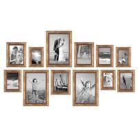 12er-Set Bilderrahmen Gold Barock Antik 10x15 13x18 15x20 und 20x30 cm inkl. Zubehör Fotorahmen / Barock-Rahmen