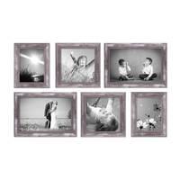 6er-Set Bilderrahmen Silber Barock Antik 15x20 20x20 und 20x30 cm inkl. Zubehör Fotorahmen / Barock-Rahmen  – Bild 5