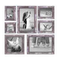 7er Bilderrahmen-Set Silber Barock Antik 10x10 10x15 13x18 20x20 und 20x30 cm