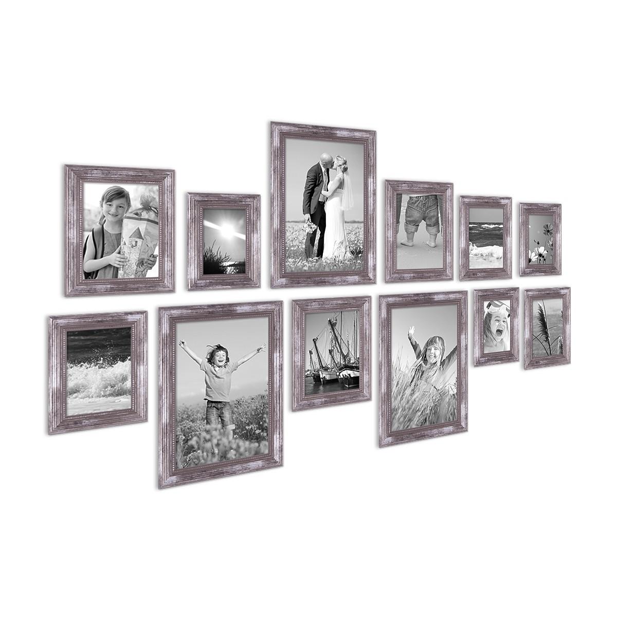 12er set bilderrahmen silber barock antik 10x15 13x18 15x20 und 20x30 cm inkl zubeh r. Black Bedroom Furniture Sets. Home Design Ideas