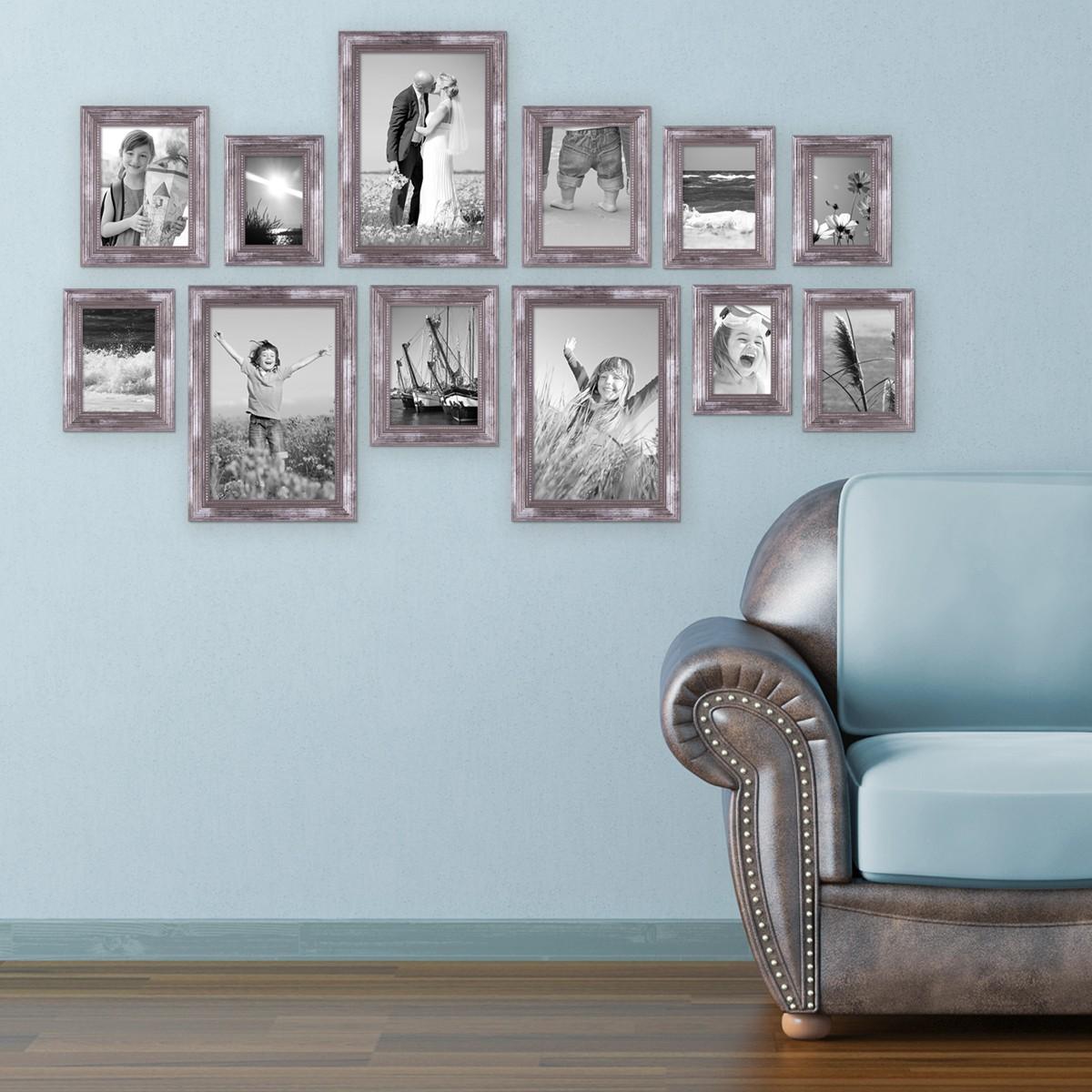 12er-set bilderrahmen silber barock antik 10x15 13x18 15x20 und
