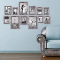 12er-Set Bilderrahmen Silber Barock Antik 10x15 13x18 15x20 und 20x30 cm inkl. Zubehör Fotorahmen / Barock-Rahmen  – Bild 4
