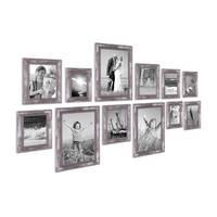 12er Bilderrahmen-Set Silber Barock Antik 10x15 13x18 15x20 und 20x30 cm