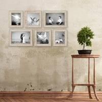 6er Set Vintage Bilderrahmen Weiss Shabby-Chic 15x20, 20x20 und 20x30 cm inkl. Zubehör Fotorahmen / Nostalgierahmen  – Bild 6