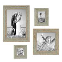4er Set Vintage BilderrahmenGrau-Grün Shabby-Chic