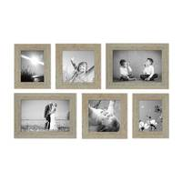 6er Set Vintage Bilderrahmen Grau-Grün Shabby-Chic 15x20, 20x20 und 20x30 cm inkl. Zubehör Fotorahmen / Nostalgierahmen  – Bild 5