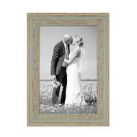 12er Set Vintage Bilderrahmen Grau-Grün Shabby-Chic 10x15, 13x18, 15x20 und 20x30 cm inkl. Zubehör Fotorahmen / Nostalgierahmen  – Bild 5