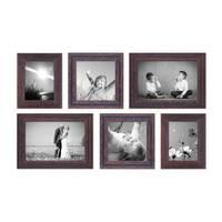 6er Set Vintage Bilderrahmen Dunkelbraun Shabby-Chic 15x20, 20x20 und 20x30 cm inkl. Zubehör Fotorahmen / Nostalgierahmen  – Bild 5