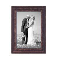 8er-Set Bilderrahmen Dunkelbraun Shabby-Chic Vintage je 2 mal 10x10 10x15 20x20 und 20x30 cm inkl. Zubehör Fotorahmen / Nostalgierahmen  – Bild 7