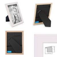 5er Set Landhaus-Bilderrahmen Weiss 10x10 10x15 13x18 und 15x20 cm Massivholz inkl. Zubehör  – Bild 3