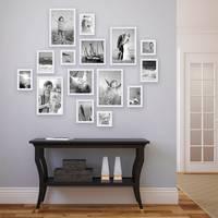 15er Set Landhaus-Bilderrahmen Weiss Massivholz Größen 10x10 10x15 13x18 20x20 20x30 cm inkl. Zubehör – Bild 4