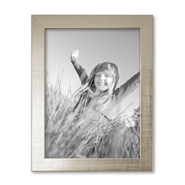 B-Ware: Bilderrahmen 15x20 cm Silber Modern Massivholz-Rahmen / 430-31