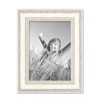 Bilderrahmen Shabby-Chic Landhaus-Stil Weiss 13x18 cm Massivholz mit Glasscheibe und Zubehör / Fotorahmen – Bild 5