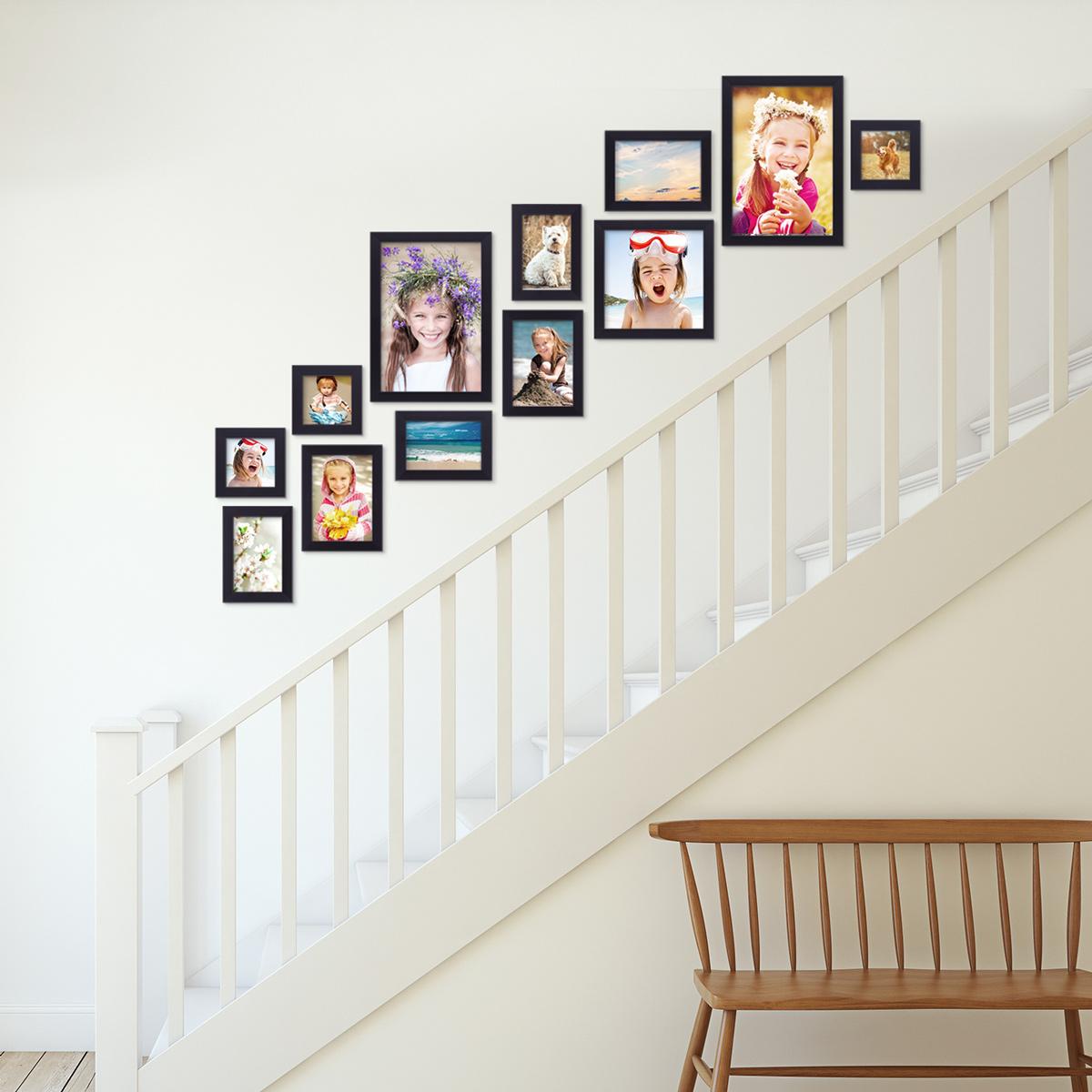 bilderrahmen im treppenhaus tipps tricks ideen f r bilderw nde. Black Bedroom Furniture Sets. Home Design Ideas