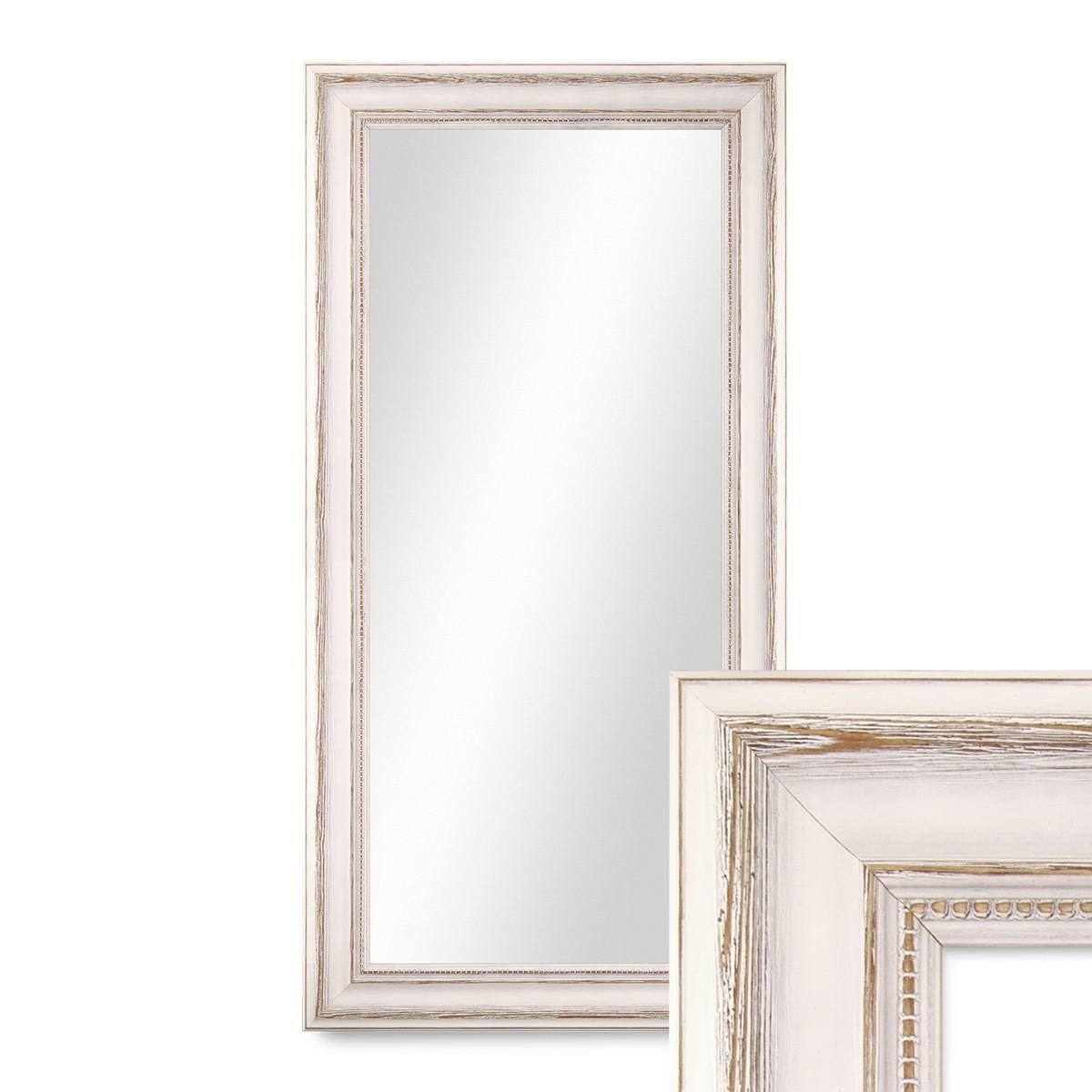 Wand spiegel 40x70 cm im massivholz rahmen landhaus stil for Spiegel 40x70