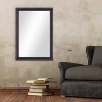 Wand-Spiegel 60x80 cm im Massivholz-Rahmen Landhaus-Stil Dunkelbraun / Spiegelfläche 50x70 cm – Bild 2