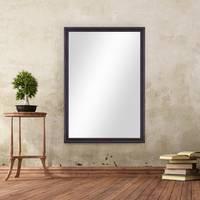 Wand-Spiegel 80x110 cm im Massivholz-Rahmen Landhaus-Stil Dunkelbraun / Spiegelfläche 70x100 cm – Bild 2