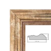 Wand-Spiegel 60x80 cm im Massivholz-Rahmen Barock-Stil Antik Gold / Spiegelfläche 50x70 cm – Bild 6