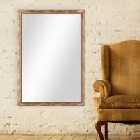 Wand-Spiegel 80x110 cm im Massivholz-Rahmen Barock-Stil Antik Gold / Spiegelfläche 70x100 cm – Bild 2