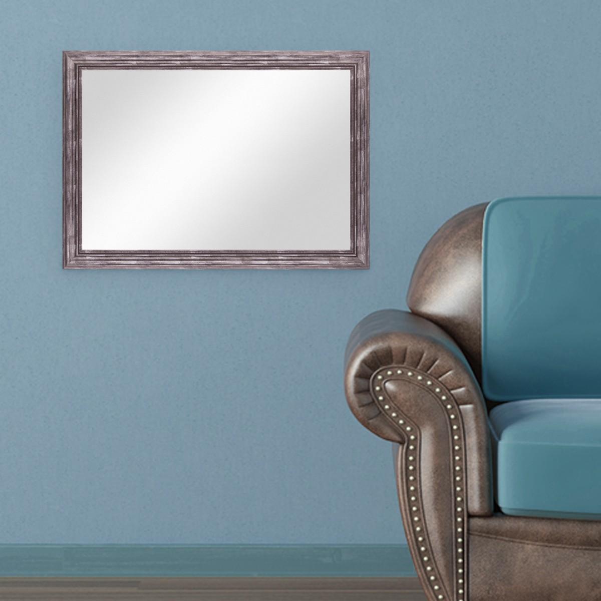 wand spiegel 60x80 cm im massivholz rahmen barock stil antik silber spiegelfl che 50x70 cm spiegel. Black Bedroom Furniture Sets. Home Design Ideas