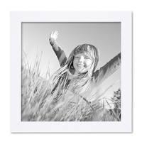 Bilderrahmen 20x20 cm Weiss Modern aus MDF mit Glasscheibe und Zubehör / Fotorahmen  – Bild 1