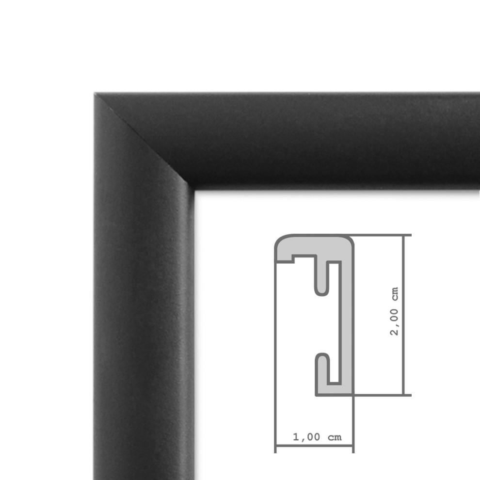 3er Set Alu-Bilderrahmen 20x30 cm Aluminium-Rahmen Schwarz Matt mit ...