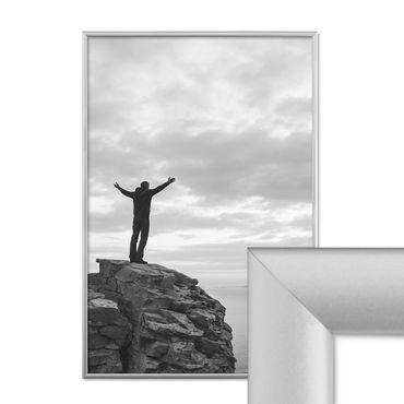alu bilderrahmen 40x60 cm aluminium rahmen silber matt mit glasscheibe inkl zubeh r rahmen gr e. Black Bedroom Furniture Sets. Home Design Ideas