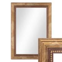 Wand-Spiegel ca. 26x36 cm im Massivholz-Rahmen Barock-Stil Antik Gold / Spiegelfläche 20x30 cm