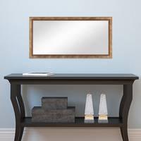 Wand-Spiegel ca. 36x66 cm im Massivholz-Rahmen Barock-Stil Antik Gold / Spiegelfläche 30x60 cm – Bild 4