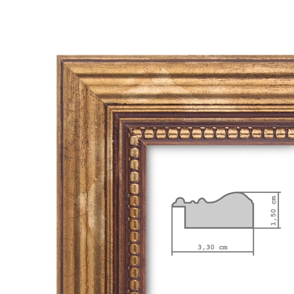 Wand-Spiegel ca. 36x96 cm im Massivholz-Rahmen Barock-Stil Antik ...